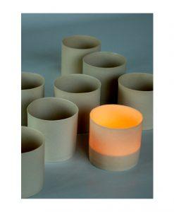 keramik ljuslykta hantverk