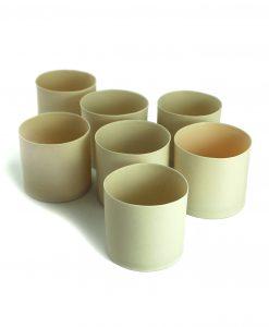Ljuskoppar keramik ljuslykta hantverk
