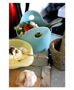 skål keramik porslin stengods sallad turkos
