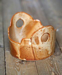 keramik skål hantverk rostbrun glasyr stengods