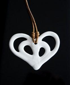 hjärta porslin hänge dekoration