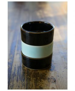 liten skål turkos svart glasyr stengods keramik